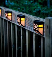deck accent lighting. Main Image For Mission-Style Solar Deck Accent Lights, Set Of 4 Lighting