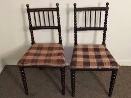 Oak Bedroom Chair Pair Of Antique Victorian Ebonised Oak Bobbin Turned Bedroom