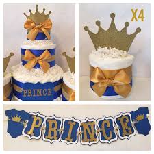 Blue And Gold Baby Shower Decorations Prince Baby Shower Party Package In Royal Blue And Gold