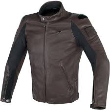 dainese street darker leather jacket dark brown