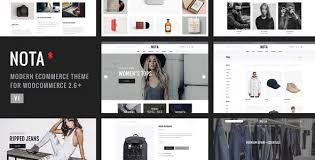 Free Ecommerce Website Templates Custom Nota Creative MultiPurpose ECommerce Theme ECommerce Wordpress
