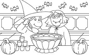 halloween costumes coloring pages two childrens dress up for halloween day costume coloring page