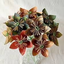 Paper Origami Flower Bouquet Amazon Com Natural Origami Flower Bouquet Handmade