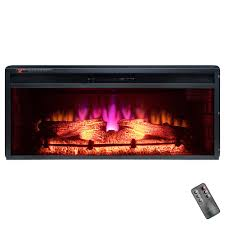 36 in freestanding electric fireplace insert heater