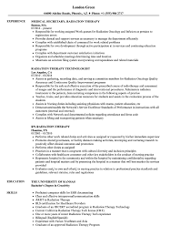 Radiation Therapy Resume Radiation Therapy Resume Samples Velvet Jobs 1