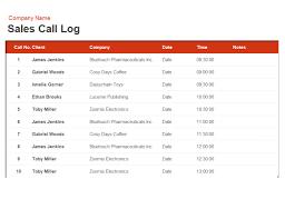 sales calling plan template sales call log and organiser