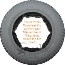 3 00 8 14 X 3 In Primo Powertrax Foam Filled Wheelchair Tire