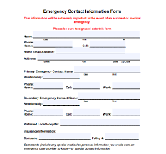 template for emergency contact information 5 contact info templates free sample templates