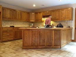 oak color paintWhite Painted Oak Cabinet Mahogany Stained Wood Cabinets Easy