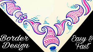 Design For Art File Border Designs On Paper Project File Design Ideas Project File Borders For School Assignments