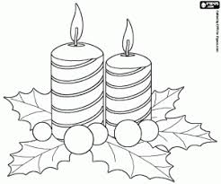 christmas candles coloring pages. Modren Pages Two Ornamental Christmas Candles Coloring Page On Candles Coloring Pages A