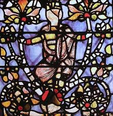 detail of the jesse tree panel from york minster