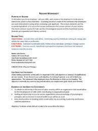 Hip Csit 101 Resume Assignment Student Worksheet 1 Resume Public