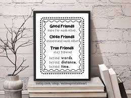 Moving Away Quotes Adorable Best Friend Gift Long Distance Friendship Quote Best Gift Etsy