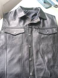 made to measure leather waistcoat 150 250