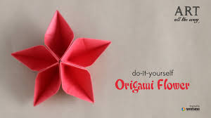 How To Make Flower With Paper Folding How To Fold Origami Flower Do It Yourself Youtube