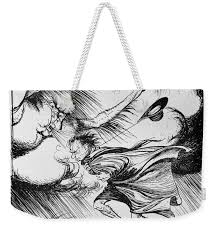 The North Wind And The Sun Illustration From Aesops Fables Published By Heinemann 1912 Colour Weekender Tote Bag