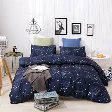 2019 <b>New Twelve Constellations</b> Duvet Set Navy Blue, Starry Duvet ...