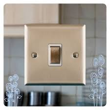 Brass Light Switch Covers Uk Mirror Light Switch Surround Finger Plate Poppies Free Uk