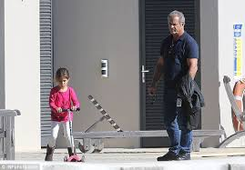 Mel Gibson with daughter Lucia after permission to fly her to ... via Relatably.com