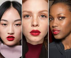 fall winter 2016 2016 makeup trends red lips