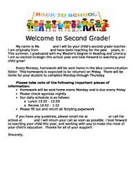 Welcome Letter To Parents