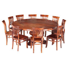 large 84 round rustic solid wood dining table for 10 people large round dining table