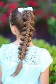 Pretty Girl Hair Style stacked pullthrough braid cute girls hairstyles cute girls 8705 by wearticles.com