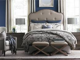 Provencal Bedroom Furniture Bassett Provence King Upholstered Bed Great American Home Store