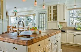 white country kitchen with butcher block.  Country CompositecountertopsKitchenTraditionalwithbutcherblock Countertopschandeliercountrykitchencrown Intended White Country Kitchen With Butcher Block O
