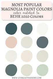behr 2020 paint colors matched to