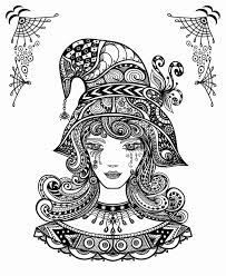 Witch Coloring Pages For Adults Aq1h Halloween Witch Coloring Page