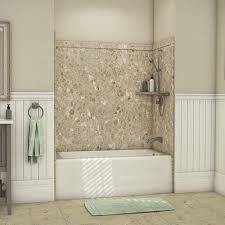 flexstone 60 x 32 petrafini elite bathtub surround