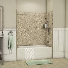 flexstone 60 x 32 petrafini elite bathtub surround