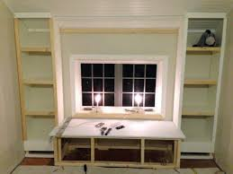 how to build built in bookcase wdow stunng diy bookcases around fireplace with cabinets window wall
