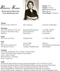 Examples Of Actors Resumes Actor Resume Example Acting Resumes 7