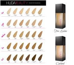 Huda Beauty Foundation Shades Chart Bedowntowndaytona Com