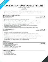Resumes For Office Jobs 56 Best Federal Government Resume