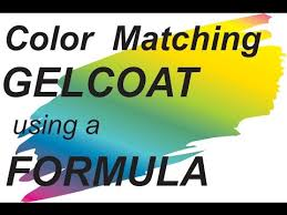 Color Matching Gel Coat Using A Formula