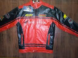 details about new rare mens embroidery honda heavy leather motorbike motorcycle racing jacket