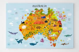 childrens maps of the world unique map of australia canvas kids room decor