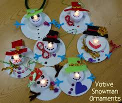 Christmas Arts And Crafts For Kids Votive Snowman Ornaments Weihnachtsbasteln Pinterest Snowman