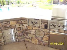 custom stone work outdoor kitchen sacramento