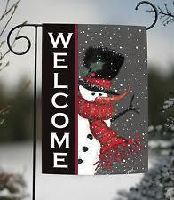 christmas garden flags. Unique Garden Toland Snowman Welcome 125 X 18 Winter Christmas Double Sided Garden Flag And Flags P