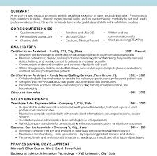 Bistrun Cna Resume Samples Free Templates Position Objective