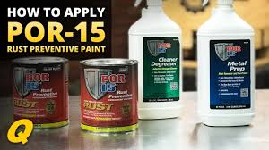 How To Apply Por 15 Rust Preventive Paint