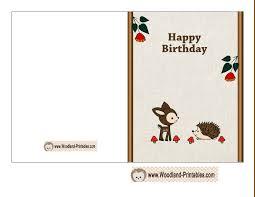 free printable photo birthday cards free printable birthday card featuring hedgehog and deer free print
