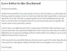 Samples Of Love Letters To Boyfriend Are Examples Or Which A