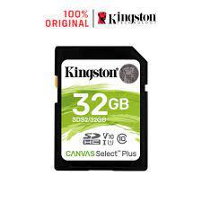 Thẻ nhớ Kingston Canvas Select Plus cho Máy ảnh Video HD 1080p và 4K SDS2 ( 32GB / 64GB / 128GB / 256GB) - Thẻ nhớ máy ảnh