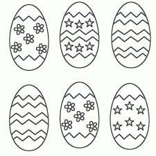 Easter Eggs Coloring Pages Easter Egg Coloring Printable Coloring